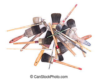 Collection of old paintbrushes