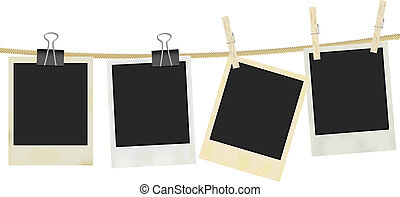 Photo Frames - Collection of Old Retro Blank Photo Frames...
