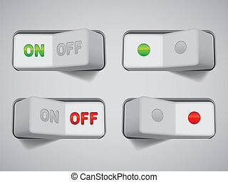 On and Off switches. - Collection of On and Off switches.