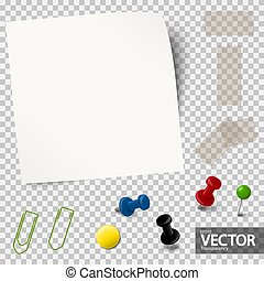 empty paper with office accessories