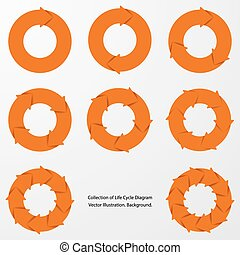 collection of orange color arrow.