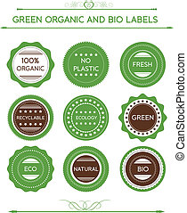 Collection Of Organic Labels And Ic