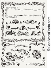 Collection of Ornamental Borders And Elements in Ancient...