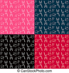 Collection of patterns. Merry Christmas and Happy New Year