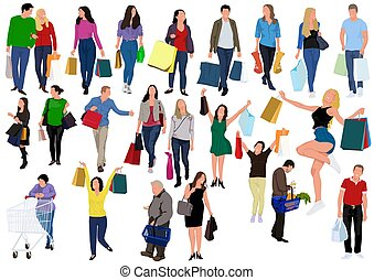 People Carrying Shopping Bags