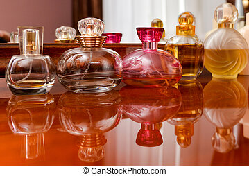 Collection of perfume bottles