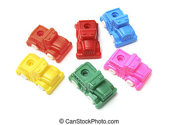 Collection of Plastic Toy Cars