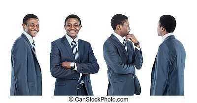 collection of portraits african american business man