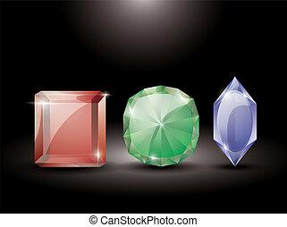 collection of precious stones