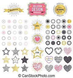 Collection of premium design elements. Vector illustration
