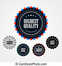 Collection of Premium Quality badges - Collection of vintage...