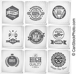 Collection of Premium Quality Labels - Premium Quality, ...