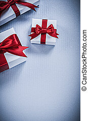 Collection of present boxes on white background holidays ...