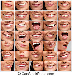collection of pretty girl mouth gestures