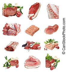 Collection of Raw Meat