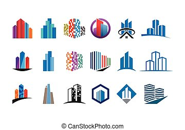 Collection of real estate logo template