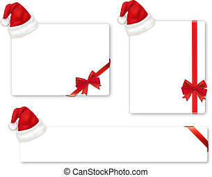 Collection of red bows and hats - Collection of red bows and...