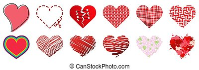 collection of red hearts