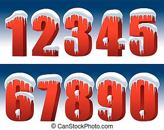 Collection of red numbers