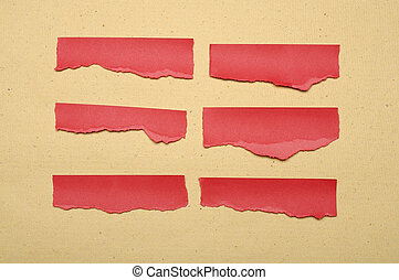 Collection Of Red Paper Tear