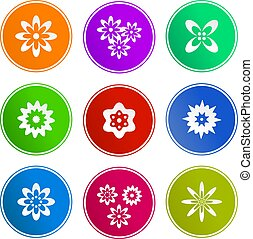flower sign icons