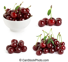 Collection of ripe cherries