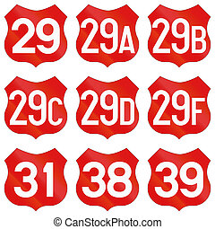 Collection of Road markings for National Roads in Romania