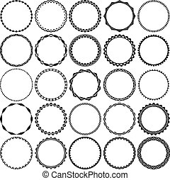 Collection of Round Decorative Border Frames with Clear...