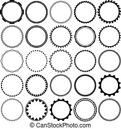 Collection of Round Decorative Ornamental Border Frames with...