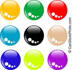 Collection of round glossy internet buttons