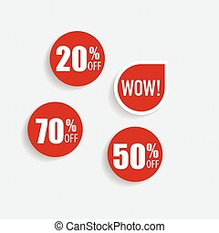 """Collection of """"Sale label price tag"""" . Vector illustration"""