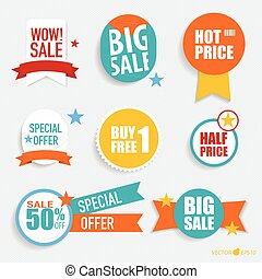 "Collection of ""Sale label price tag"" . Vector illustration"