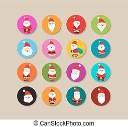 Collection Of santa claus christmas