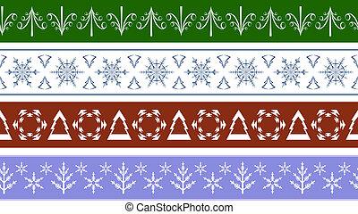 seamless Christmas Borders