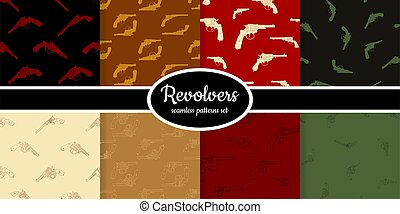 Collection of seamless pattern with Revolvers