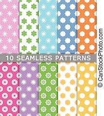 collection of seamless patterns background