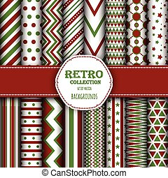 Collection of seamless patterns