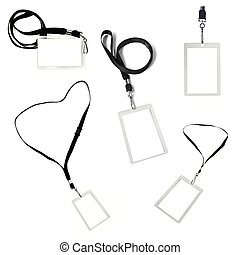 Collection of Security Tags on Lanyards