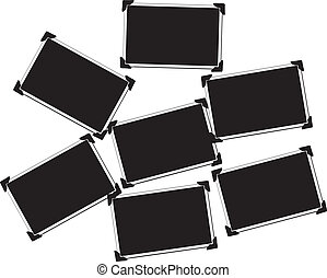 Collection of Seven Blank Pictures with photo corners
