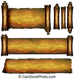 Collection of several scroll elements
