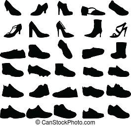Collection of shoes - vector