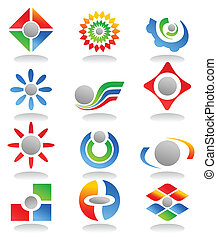Collection of signs on different themes of business. A vector illustration