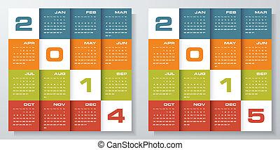 vector calendar 2014-2015