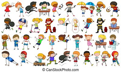 Collection of simple kids