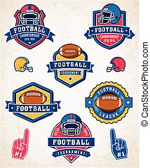 Vector American football logo and insignias