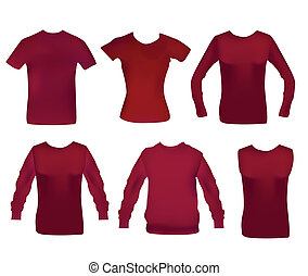 Collection of six different woman clothes