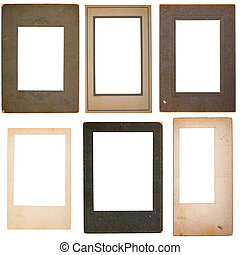Collection of Six Vintage Photo Cardboard Photo Frames