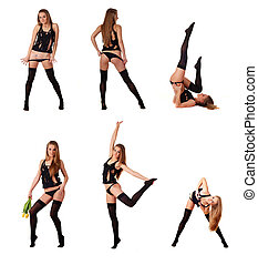 collection of six woman - collection of six beautiful woman...