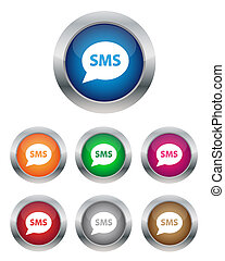 SMS buttons - Collection of SMS buttons in various colors