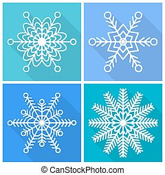 Collection of snowflakes icons